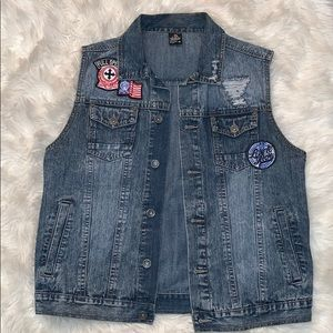 Jean jacket vest xl